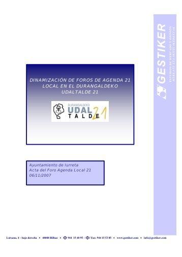 Acta del II Foro (2. Fase)