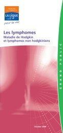 Les lymphomes non hodgkiniens - Ligue contre le cancer
