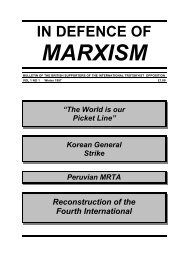 in defence of marxism - Institute for Global Communications