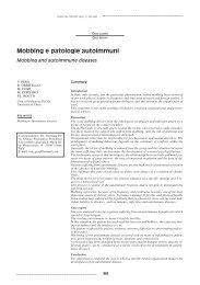 Mobbing e patologie autoimmuni Mobbing and autoimmune diseases