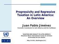 Progressivity and Regressive Taxation in Latin America: An Overview