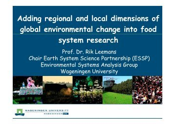 Adding regional and local dimensions of global environmental ...