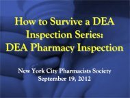 controlled substance physical inventory - New York City Pharmacists ...