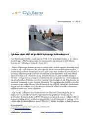 visar APID 60 på HMS Nyköpings helikopterdäck - CybAero AB