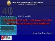 licuación de suelos en chimbote - Dr. Ing. Jorge Elias Alva Hurtado