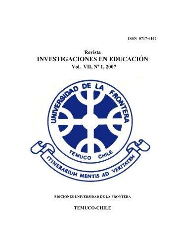 investigaciones en educación - Webmail Universidad de la Frontera