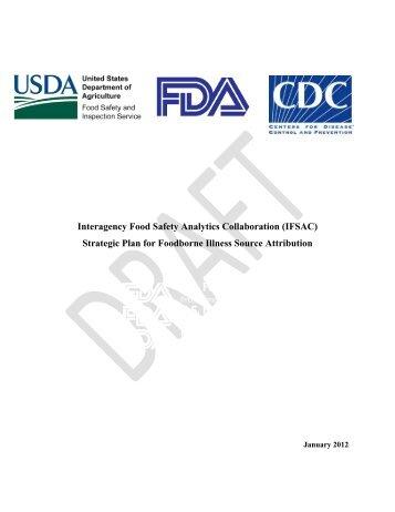 (IFSAC): Strategic Plan for Foodborne Illness Source Attribution