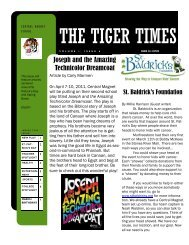the tiger times - Central Magnet School - Rutherford County Schools