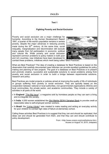 INGLÊS - Vestibular UFSC/2011 - UFSC