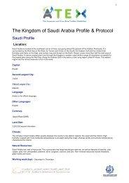 The Kingdom of Saudi Arabia Profile & Protocol