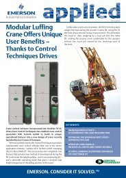 Thanks to Control Techniques Drives - Emerson Industrial Automation