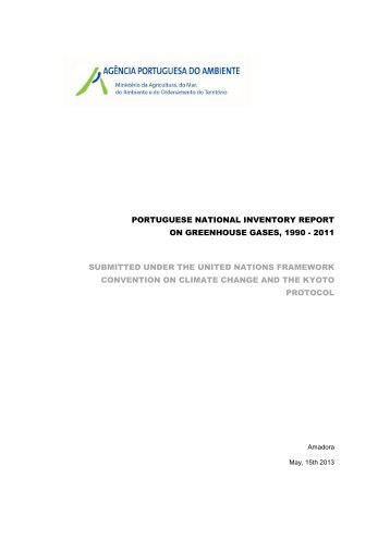 portuguese national inventory report on greenhouse gases, 1990