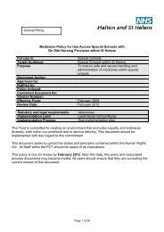 Clinical Policy Medicines Policy for Use Across Special Schools with ...