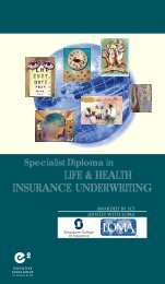 Specialist Diploma in Life & Health Insurance Underwriting