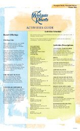 Activities Descriptions - Westgate Smoky Mountain Resort