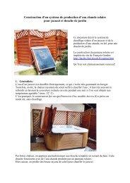 Construction d'un système de production d'eau chaude solaire