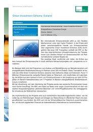 Ausgewählte Projektreferenzen - Kommunalkredit Public Consulting