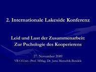 Leid und Lust der Zusammenarbeit - Lakeside Conference