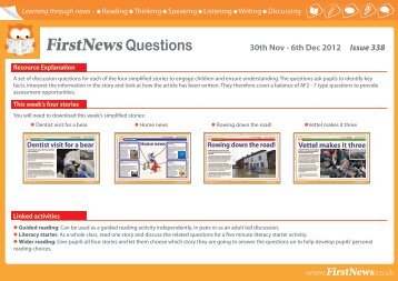 FirstNewsQuestions 30th Nov - 6th Dec 2012 Issue 338