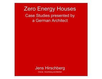 Zero Energy Houses - AHK San Francisco