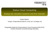 Status Cloud Computing - CS 4 - Friedrich-Alexander-Universität ...