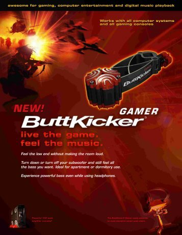 ButtKicker Gamer - The ButtKicker