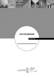notE doCumEntairE - Centrale Raad voor het Bedrijfsleven