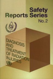 Diagnosis and Treatment of Radiation Injuries - IAEA Publications