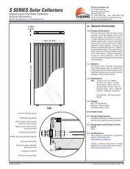 S SERIES Solar Collectors - Thermo Dynamics Ltd.