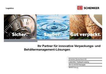 Luftfracht-Paletten - Schenker Deutschland AG - DB Schenker