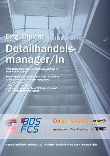 Informationsflyer - Bildung Detailhandel Schweiz (BDS)