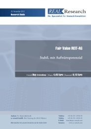 Studie - Fair Value REIT-AG
