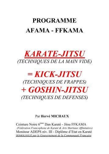 de karate-jitsu - Association Francophone d'Arts Martiaux Affinitaires