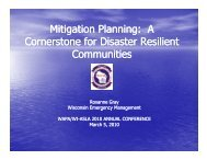 Mitigation Planning: A Mitigation Planning: A Cornerstone for ...
