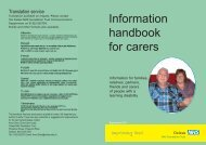 Information handbook for carers, learning disability edition 1.8 MB