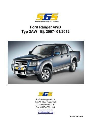 Ford Ranger 4WD Typ 2AW Bj. 2007- 01/2012 - SGS