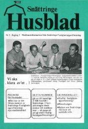 1980 - Snättringe fastighetsägareförening