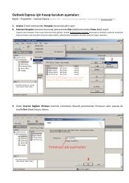 Outlook Express için hesap kurulum aşamaları: - Anadolu Sigorta