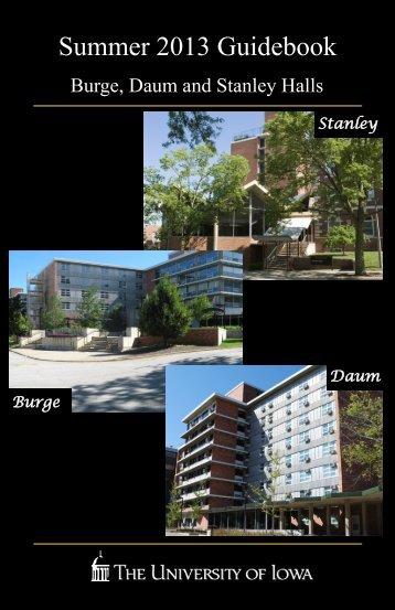 Burge, Currier, Daum, and Stanley Halls - Housing - University of Iowa