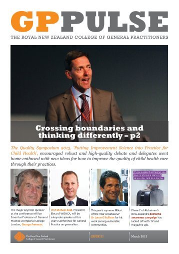 GP Pulse March 2013 Issue 21 - The Royal New Zealand College of ...