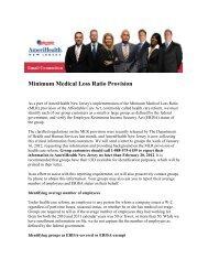 Minimum Medical Loss Ratio Provision