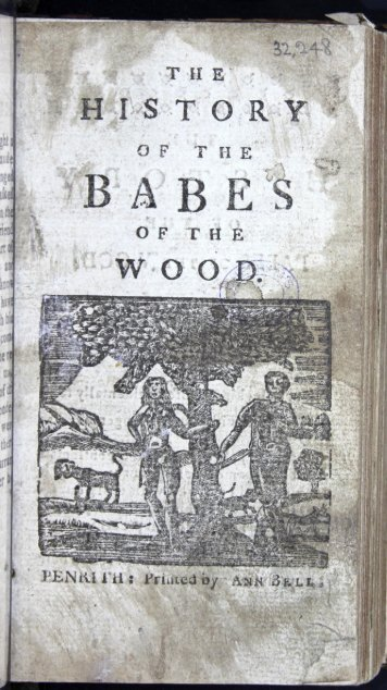 The History of the Babes of the Wood