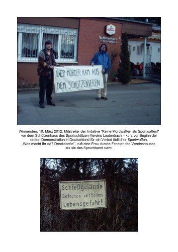 Fotos von der Demonstration - Keine Mordwaffen als Sportwaffen