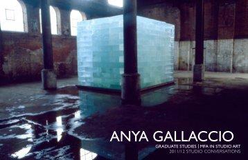 ANYA GALLACCIO - Moore College of Art and Design
