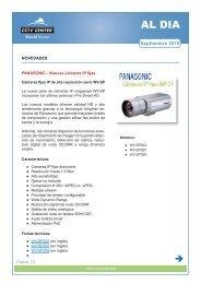 AL DIA - Nuevas cámaras IP PANASONIC series WV ... - CCTV Center