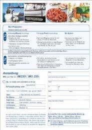 Fax-Anmeldeformular - Forum Gesundheitsmedien