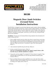 Magnetic Door Jamb Switches (Ground Style ... - Painless Wiring