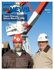 Dugan Shipway Retires March 31, 2009 - Bath Iron Works