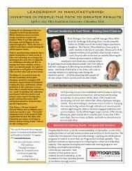 Greenleaf Manufacturing Flyer - Greenleaf Center for Servant ...