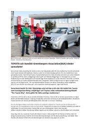 Kjell Nordh Key Account Manager TOYOTA och Björn Eichmüller ...